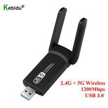 Nouveau USB 3.0 1200Mbps Wifi adaptateur double bande 5GHz 2.4Ghz 802.11AC RTL8812BU Wifi antenne Dongle carte réseau pour ordinateur portable de bureau
