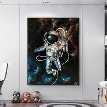 Абстрактный астронавт Настенная картина на холсте Мультяшные