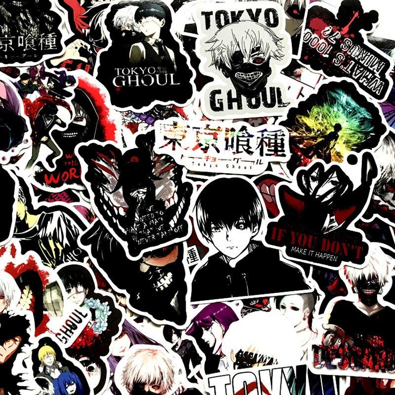 50 шт. японского аниме Токийский Гуль наклейки пакет террор граффити ужас Pegatinas Водонепроницаемая игрушка для багажа ноутбука скейтборд|Наклейки|   | АлиЭкспресс