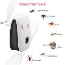 Ue/eua ultra-sônico anti mosquito inseto repeller rato barata rejeição de pragas repelente assassino do mosquito eletrônico