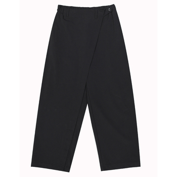 [EAM] High Elastic Waist Black Brief Pleated Long Trousers New Loose Fit Pants Women Fashion Tide Spring Autumn 2020 1S430 5