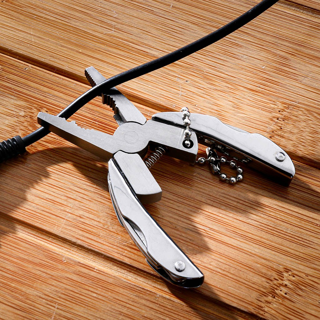 Folding Plier Portable Multi Function Folding Pocket Tool Plier  Knife Keychain Screwdriver Camping Outdoor Hiking Tool