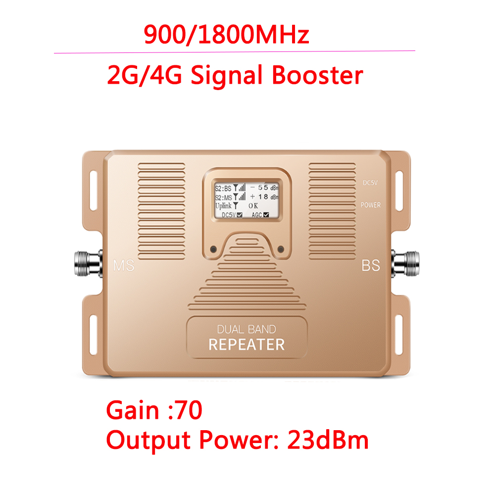 ZQTMAX 2g 4g Smart Mobile Signal Booster LCD DUAL BAND 900/1800mhz Signal Cell Phone Repeater Booster