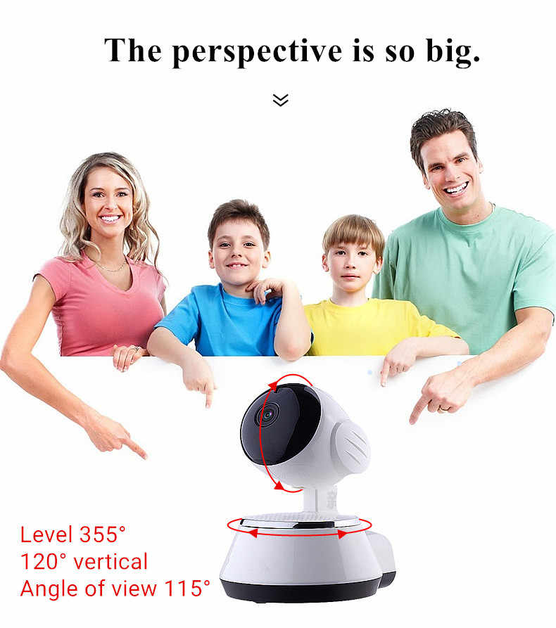 1080P IP Camera Wi-Fi Wireless Network CCTV Camera Home Security Camera IP Baby Monitor P2P Smart Motion Track