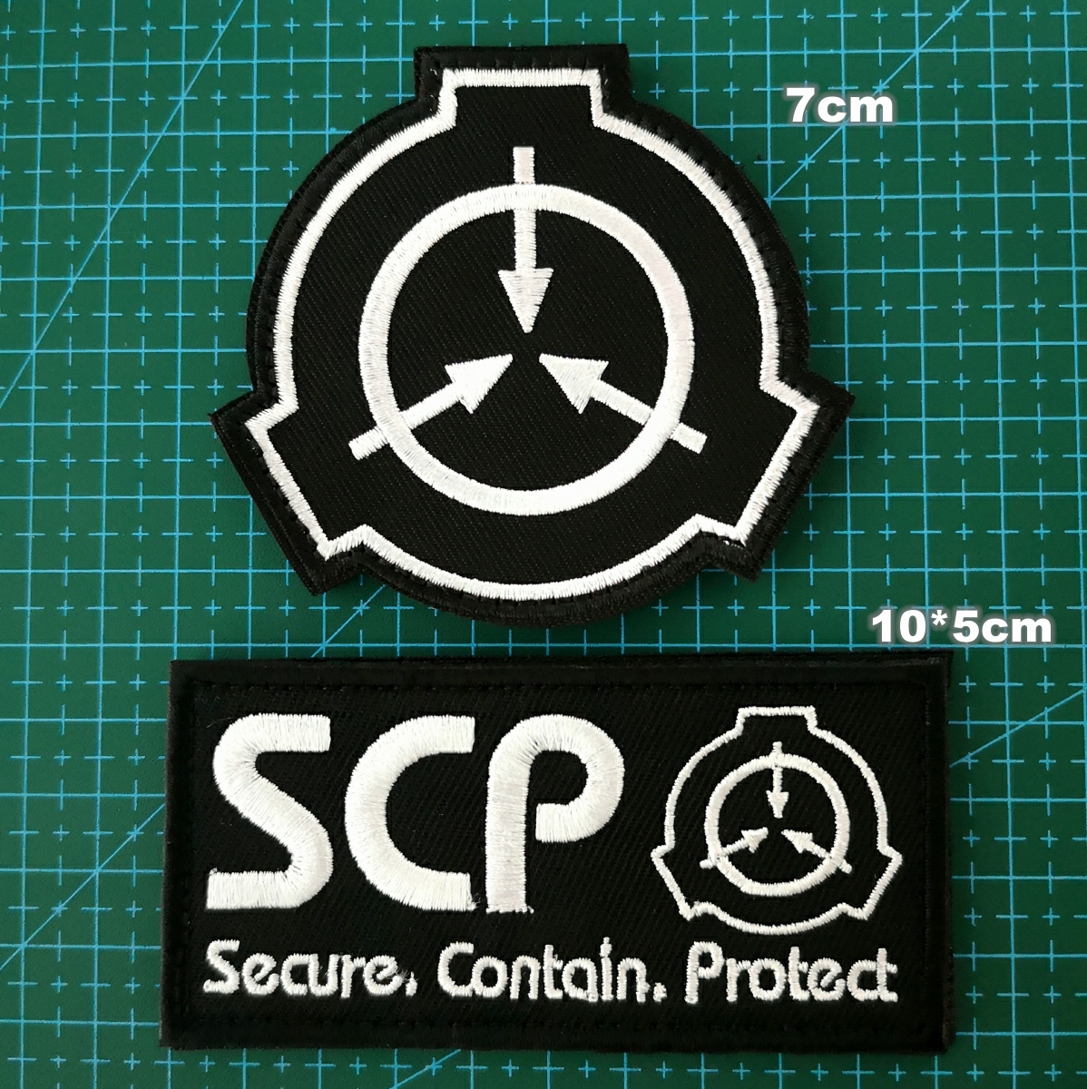 GUGUTREE embroidery HOOK&LOOP SCP <font><b>patch</b></font>,embroidered letter <font><b>patches</b></font> alphabet badges appliques for <font><b>coats</b></font> YCH-205236 image