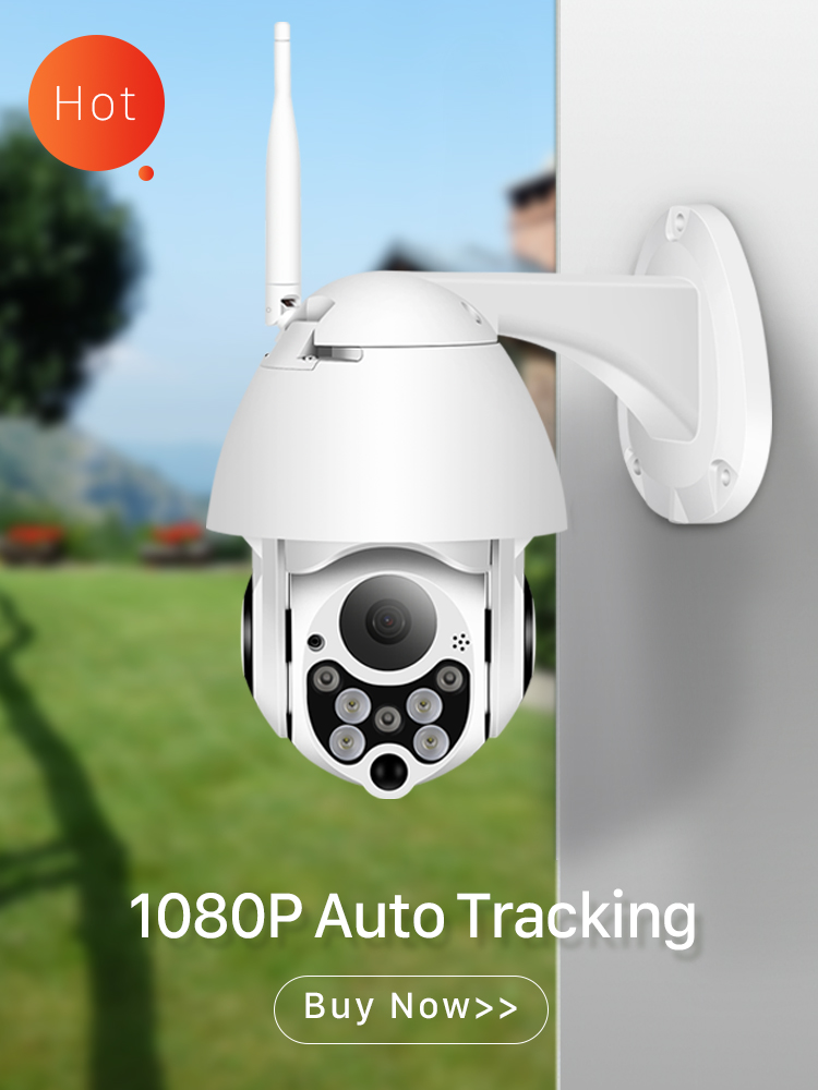 Ip-Camera Network Pan Tilt Wifi Speed Dome CCTV Surveillance 1080p Ptz 4x-Digital-Zoom