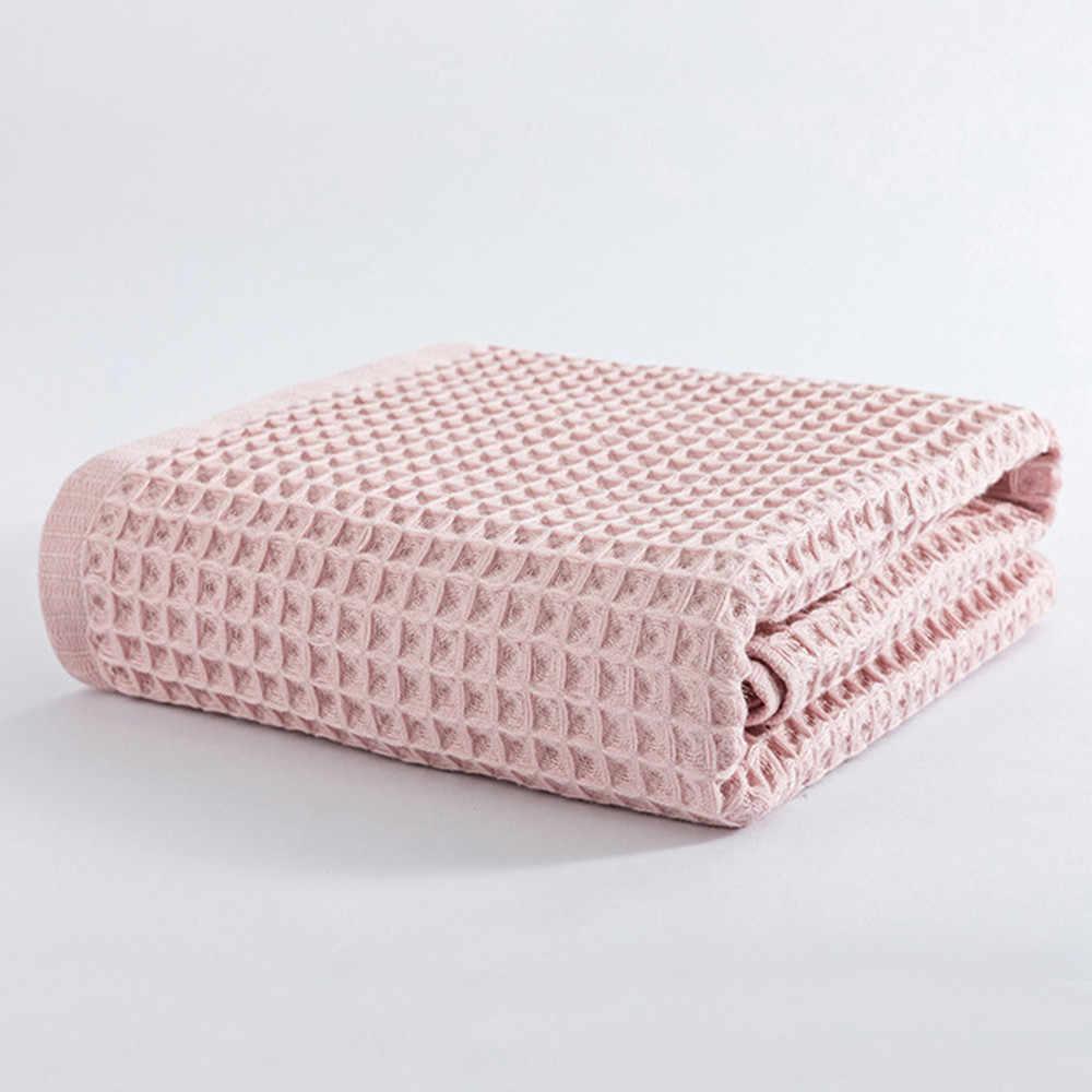 綿ワッフル毛布ベッドソフトキッ軽量ベッドカバーのためにスローバック学校に 70 × 140 センチメートル