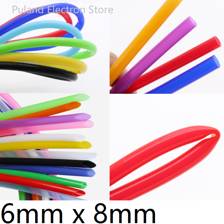 Silicone Tube ID 6mm X 8mm OD Flexible Rubber Hose Thickness 1mm Food Grade Soft Milk Beer Drink Pipe Water Connector Colorful