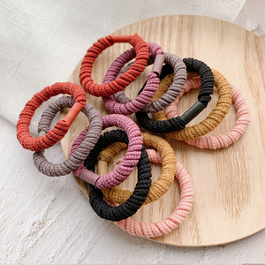 New 5PCS/Lot Girls Candy Colors Rubber Bands Children Safe Elastic Hair Bands Ponytail Holder Kids Hair Daughter Accessories