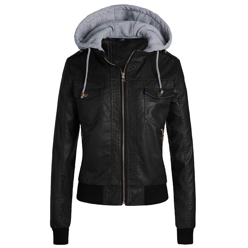 Winter Leather   Jacket   Women 2019 Casual Ladies   Basic     Jackets   Coats Warm Plush Female Motorcycle   Jacket   Coats Plus Size 3XL