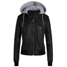 Winter Leather Jacket Women 2019 Casual Ladies Basic