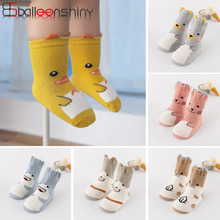 Kids Socks Animal Baby Infant Girls Boys Cartoon Child Cotton Cute Balleenshiny for Three-Dimensional