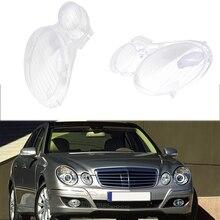 Araba sol/sağ far camı cam kapak Benz W211 E240 E200 E350 E280 E300 2002 2008 abajur kabuk lamba kapağı kapak