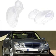 Cubierta de cristal para lente de faro derecho/izquierdo de coche para Benz W211 E240 E200 E350 E280 E300 2013 2018, cubierta de Pantalla para lámpara