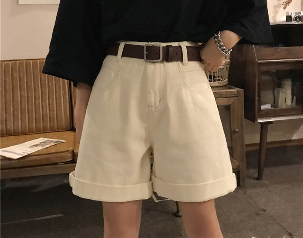 2020 Spring And Summer New Women Casual Loose Denim Shorts Fashion High Waist Wide Leg Shorts Female Bottoms Women Clothes Y010