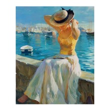 diy oil painting by numbers kit girl paint by numbers for adults for home decor