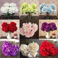 Artificial Artificial Flowers Hydrangea Bunch 5 Heads Silk Garden Party Home Fake Mallorca Decor Bouquet