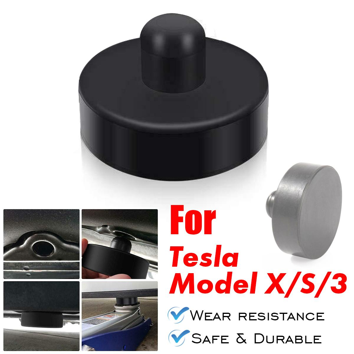 NEW 1/4Pcs Black Rubber Jack Lift Point Pad Adapter Jack Pad Tool Chassis Jack Car Styling Accessories For Tesla Model X/S/3