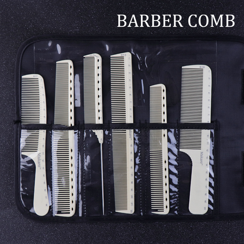 6 Style Anti-static Hairdressing Comb Salon Hair Care Styling Tool White Professional Comb Tail Comb Hair Cutting Combs