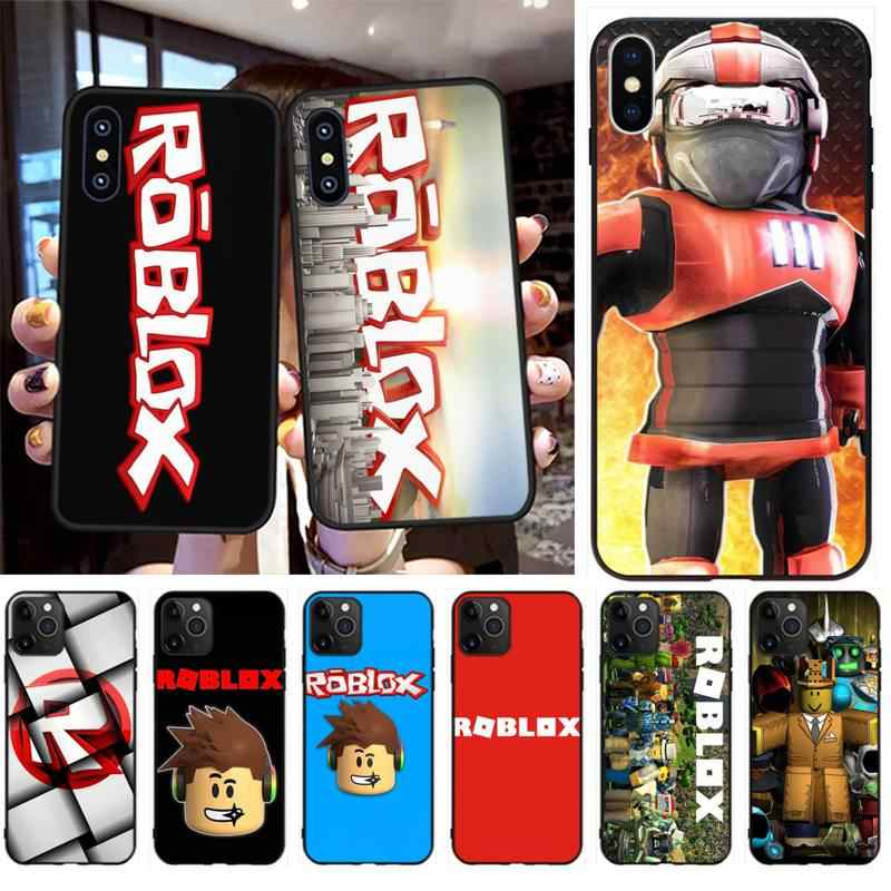 Nbdruicai Popular Game Roblox Logo Diy Luxury Phone Case For