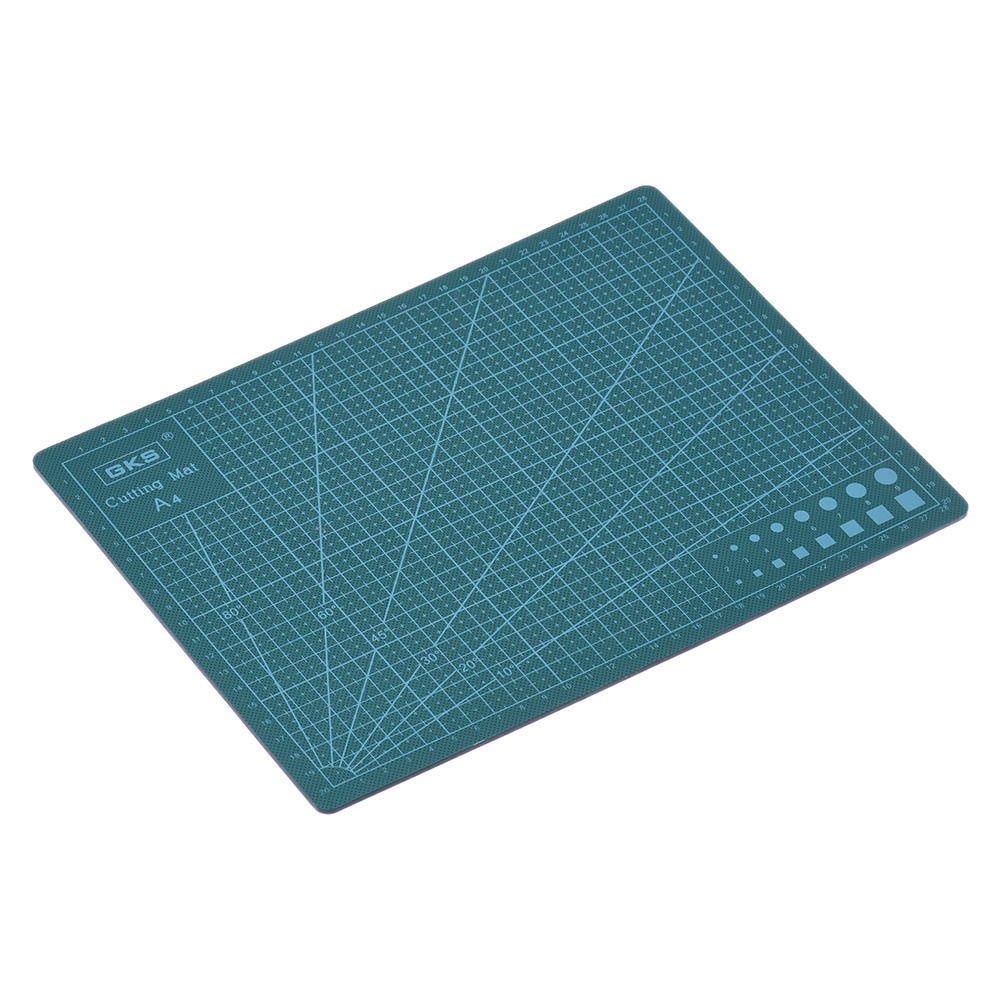 GKS High Quality Multipurpose Self Healing Builders Double-Sided PVC A4 Cutting Mat 22cm * 30cm * 0.3cm Green