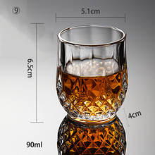 JOUDOO 2/4/6/8PCS Crystal Cup Shot Glass Cup Creative Spirits Wine Glass Cup glasses Party Drinking Charming Thick Bottom Cup 35