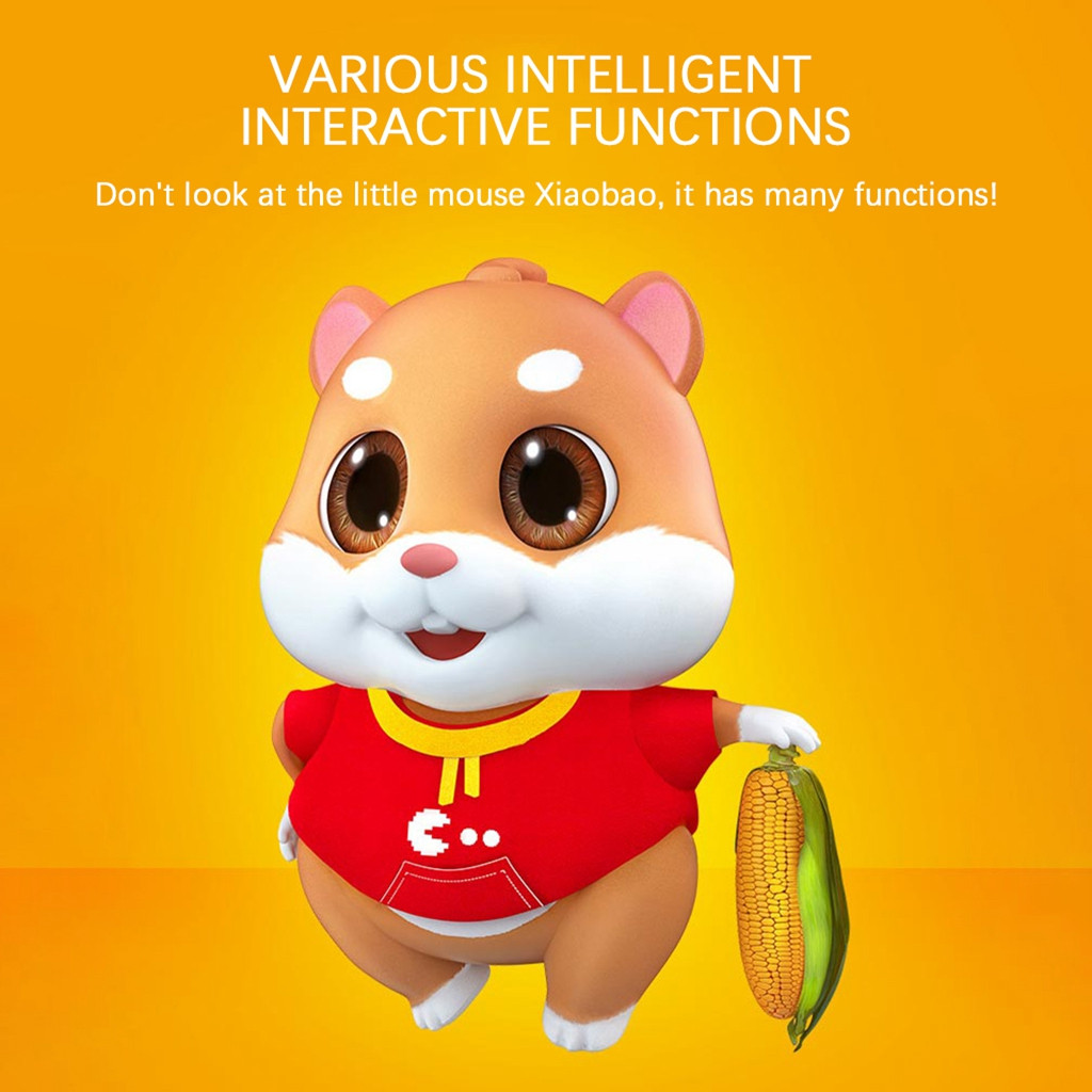 Simulation Adorable Toy Mimicry Pet Speak Talking E-at Food Hamster Mouse Mice Kid Toys Kids Toys Brinquedos Juguetes игрушки