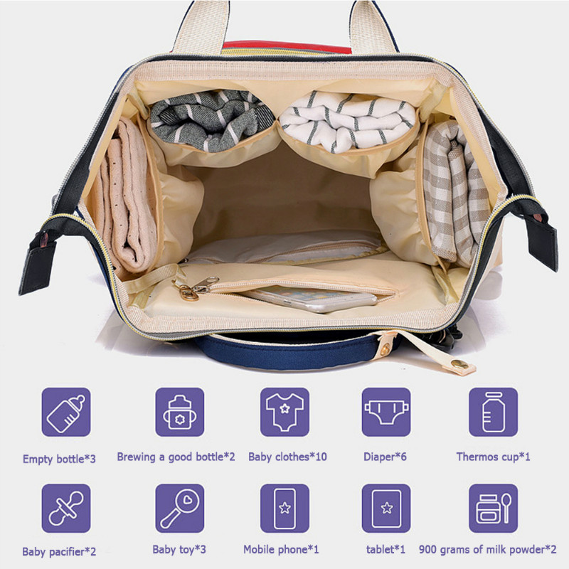 Hd2e81d0b9ae6449da5e76605c6fca4fan Large Capacity Mummy Diaper Bags Zipper Mother Travel Backpacks Maternity Handbags Pregnant Women Baby Nappy Nursing Diaper Bags