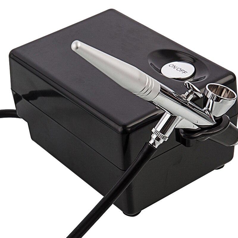 Mini Air Compressor Kit Airbrush Spray Gun Portable BT16 Sprayer Makeup for Cakes Manicure Temporary Tattoo Art Painting Tool