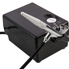 Мини воздушный компрессор комплект аэрограф пистолет опрыскиватель портативный BT16 макияж для тортов маникюрный инструмент временный искусство татуировки