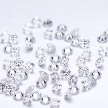 D สี 10pcs * 0.1CT 3 mm/Pack ขายส่งราคา VVS Brilliant ตัด Moissanite แหวนสร้อยข้อมือต่างหูเพชร