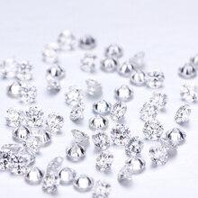 D צבע 10pcs * 0.1ct 3 mm/Pack סיטונאי מחיר VVS cut מבריק Moissanite עבור טבעת צמיד עגיל יהלום
