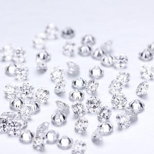 Image 1 - D cor 10 pçs * 0.1ct 3 mm/pacote preço de atacado vvs corte brilhante moissanite para anel pulseira brinco diamante
