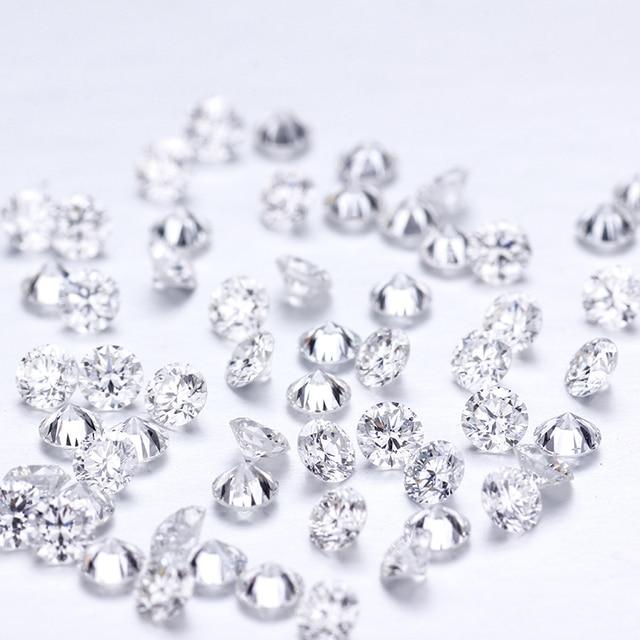 D cor 10 pçs * 0.1ct 3 mm/pacote preço de atacado vvs corte brilhante moissanite para anel pulseira brinco diamante