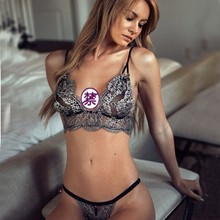 Exotic apparel Women Sexy Three-point lingerie Lace Push Up
