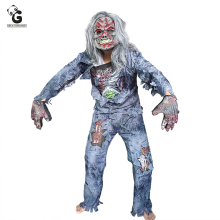 Zombie Costume Set Scary Ghost Costumes Horror Rotting Demon Rot Corpse Purim Stage Wear Halloween Costume For Women and Men купить недорого в Москве