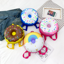 Дети рюкзак прекрасный пончик радуга дети детский сад школа книга сумка повседневная рюкзак винтаж сумки для девочки мальчика дети школьный портфель