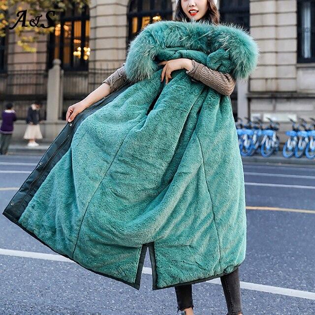 Купить женская длинная парка с капюшоном anbenser хлопковой подкладкой картинки цена