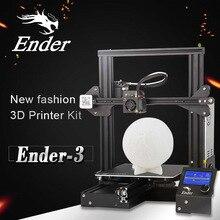 Creality 3D Ender-3 3d принтер DIY комплект самостоятельной сборки Prusa I3 3d принтер с обновлением резюме печати мощность стекло вариант