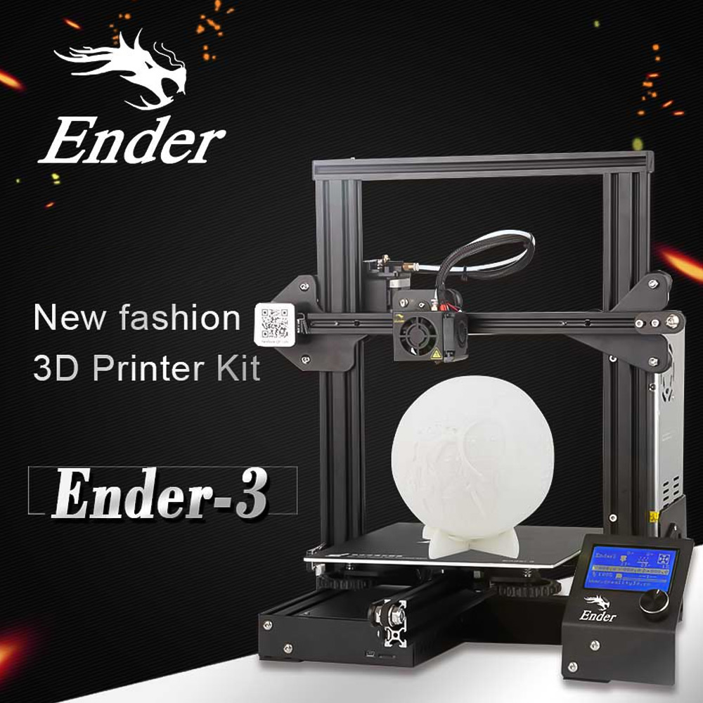 Creality 3D Ender-3 / Ender-3 Pro 3D Printer DIY Kit Self-assemble with Upgrade Resume Printing Power Ender 3 3D Printer title=