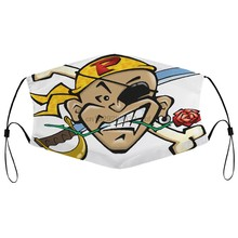 Máscara de poeira com filtro personalizzata il pirata nel cuore marco pantani fã boca máscara facial