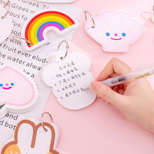 Cartoon Loose-leaf Notebook Memo Pads Notepad Word Study Card Portable Buckle Binder Blank Pad Loose Leaf Notes DIY