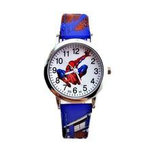 Leather Strap Alloy Dial Kid Watch Children Fashion Casual Waterproof Wristwatch