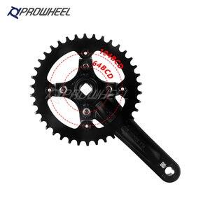 Image 2 - PROWHEEL piñón de agujero cuadrado para bicicleta, manivela de 170/175mm, 30/32/34/36/38/40/42/44/46/48/50/52T, platos y bielas de bicicleta de montaña