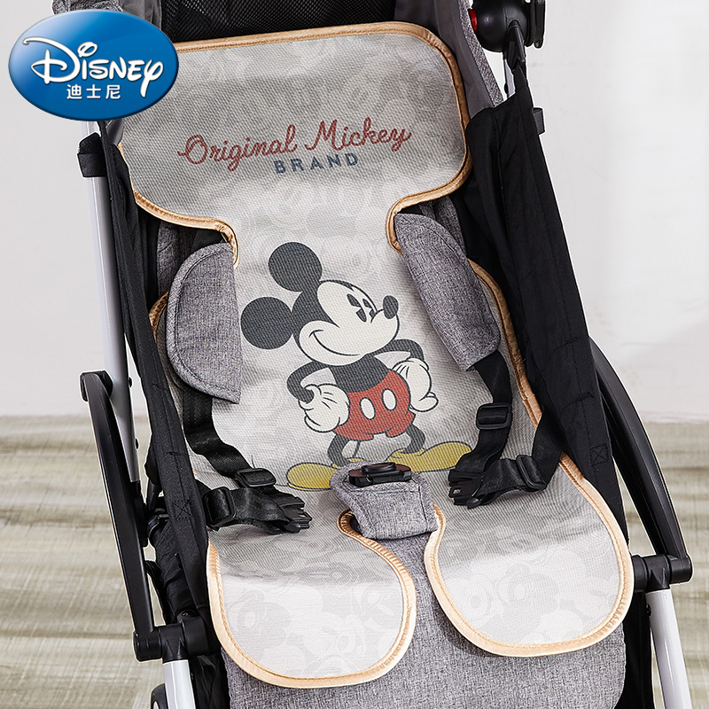 Original Disney Summer Universal Silk Breathable Baby Cushion Children Ice Cushion Baby Stroller Baby Trolley Cushion TCX0005