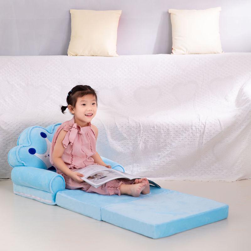 Детский складной маленький диван-кровать для сна мультяшный милый ленивый лежачий стул Съемный и моющийся детский диван детское кресло 4