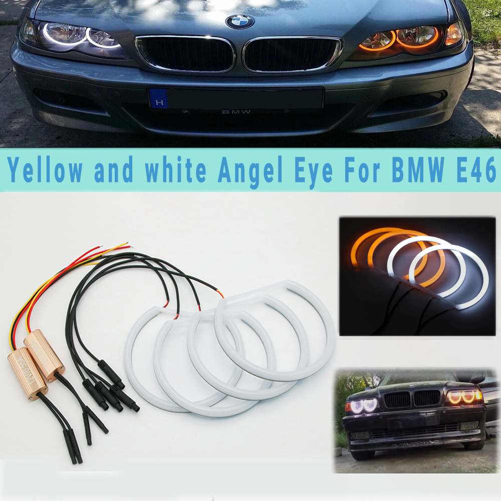 Switchback Halo Ring Cotton Light SMD LED Angel Eyes DRL For BMW E36 E38 E39 E46