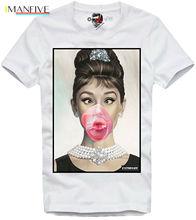 Diana Hepburn T Shirt Audrey Bubble Gum  Undercover Paly 2019 Short Sleeve O Neck MenS 3 D Print Fashion Tops Tees
