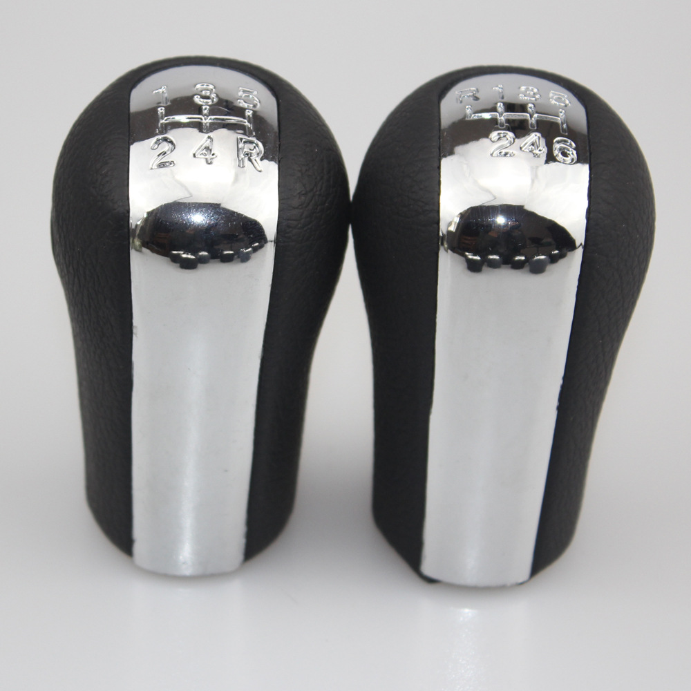 Suitable For TOYOTA Corolla Shift Handball Gear Shift Knob Electroplated Black And White With Pattern Leather Gear Handball