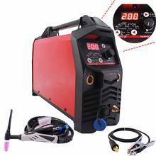 Máquina de solda profissional, máquina de solda digital de tig 200a, iniciar quente, hf, ignição, antiaderente, force ce igbt, inversor mma tig soldador